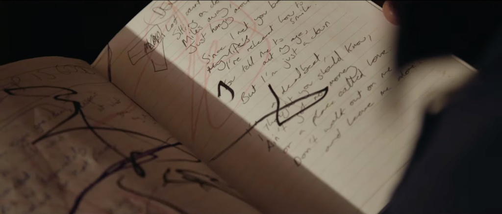Scribblings in Martin's journal featured in Dogwood